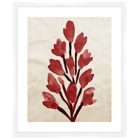 "Crimson Bouquet I 26 1/2"" High Framed Wall Art"