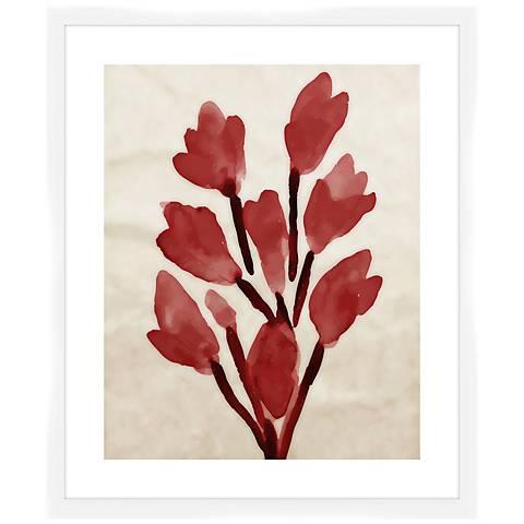 """Crimson Bouquet II 26 1/2"""" High Framed Wall Art"""