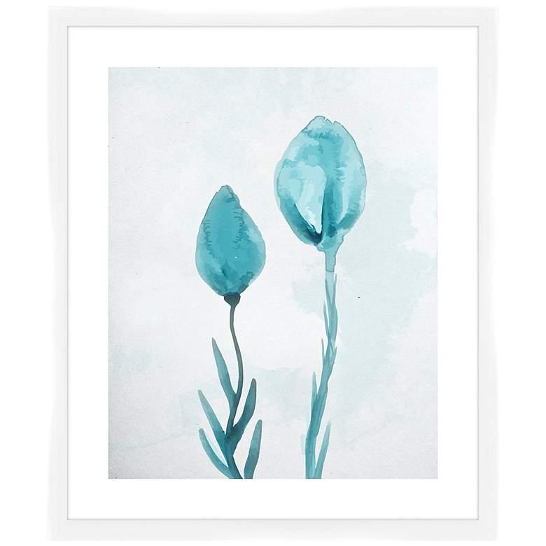 """The Blue Roses I 26 1/2"""" High Framed Wall Art"""