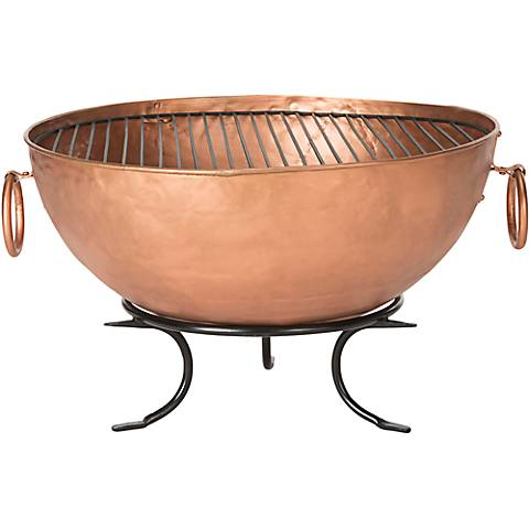 "Bangkok Copper 32"" Wide Roman Kettle Tub Fire Pit"