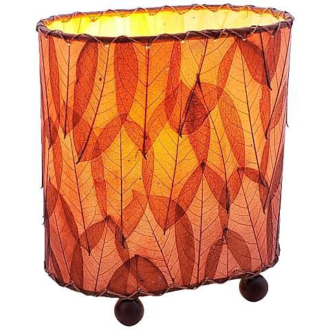 "Eangee 9""H Guyabano Burgundy Mini Uplight Accent Table Lamp"