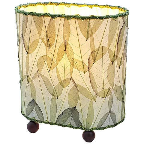 "Eangee 9""H Guyabano Green Mini Uplight Accent Table Lamp"