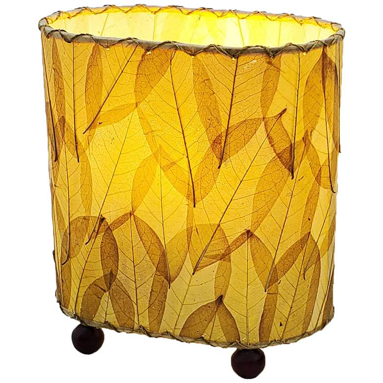 "Eangee 9""H Guyabano Natural Mini Uplight Accent Table"
