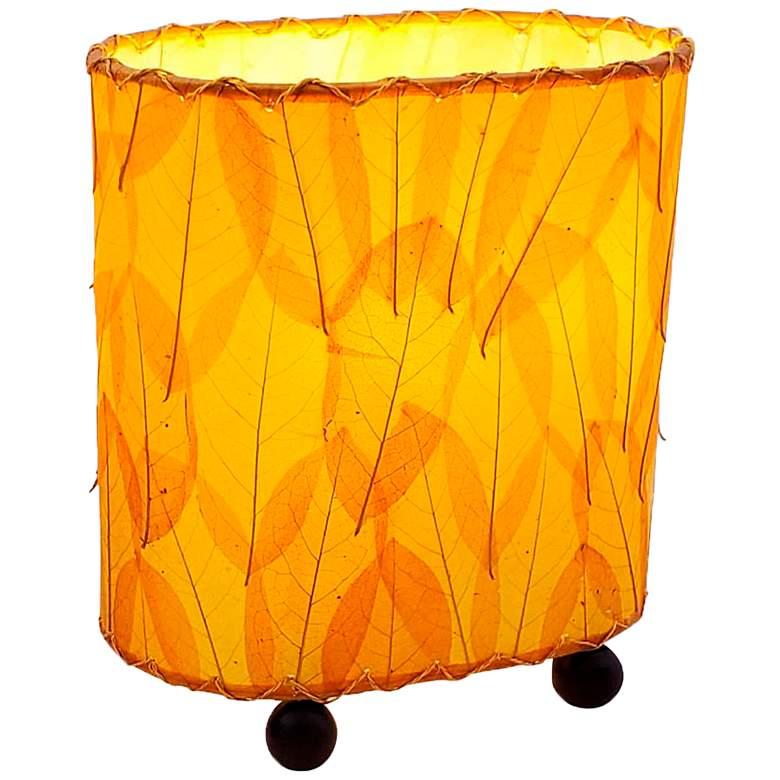 """Eangee 9""""H Guyabano Orange Mini Uplight Accent Table"""