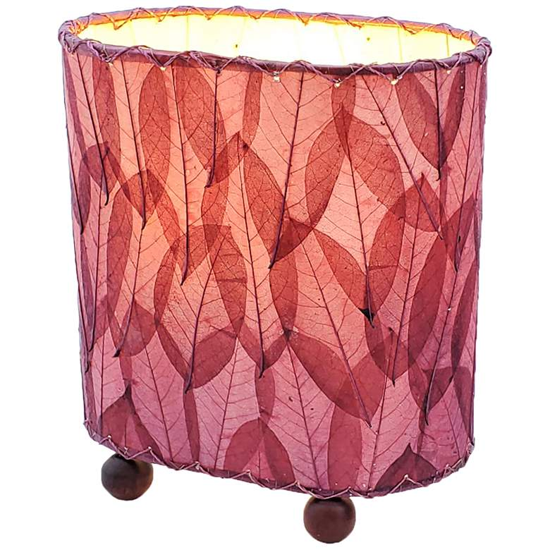 "Eangee 9""H Guyabano Purple Mini Uplight Accent Table Lamp"