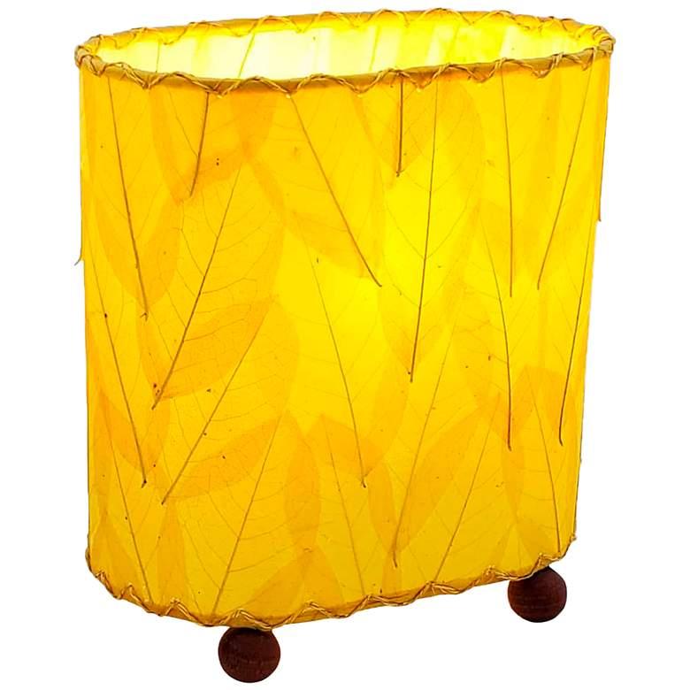 "Eangee 9""H Guyabano Yellow Mini Uplight Accent Table"