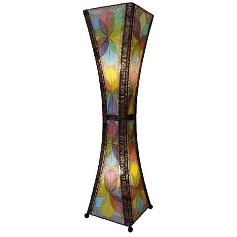 Eangee Hour Glass Multi-Color Large Tower Floor Lamp