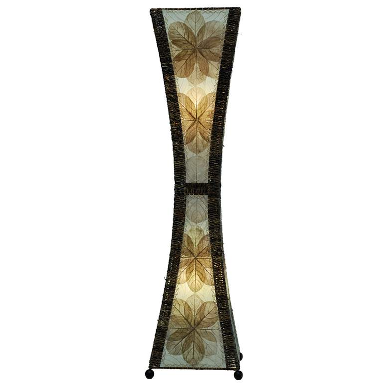 Eangee Hour Glass Natural Large Tower Floor Lamp