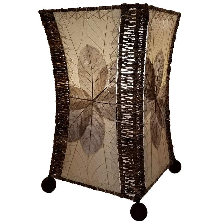 Eangee Hour Glass Natural Cocoa Leaves Uplight Table