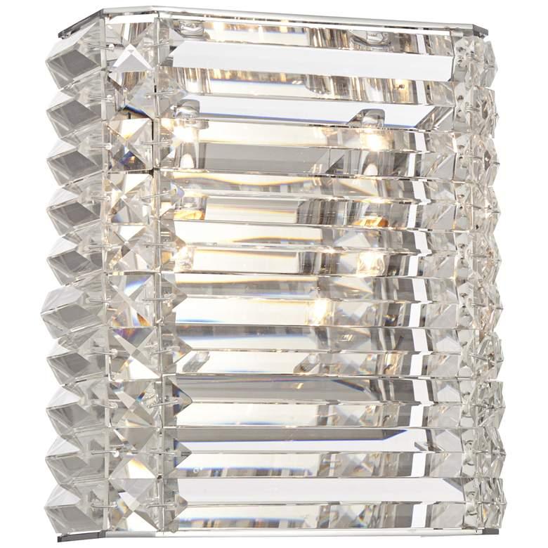 "Possini Euro Vivienne 9"" High Crystal Wall Sconce"