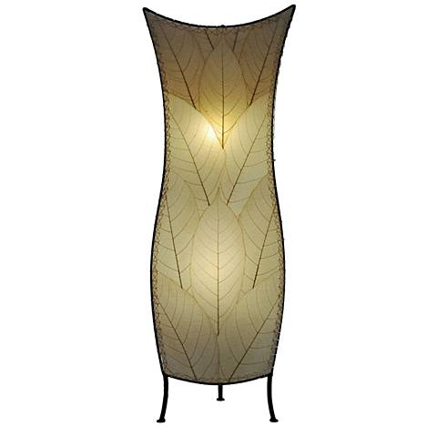 """Eangee 36""""H Flower Bud Natural Large Tower Accent Table Lamp"""