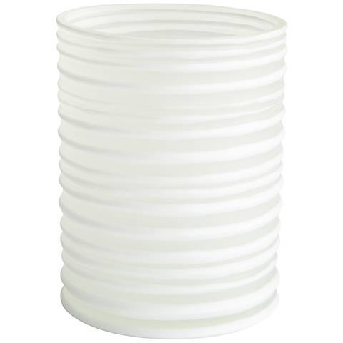 """St.Vincent 9"""" High White Glass Vase"""