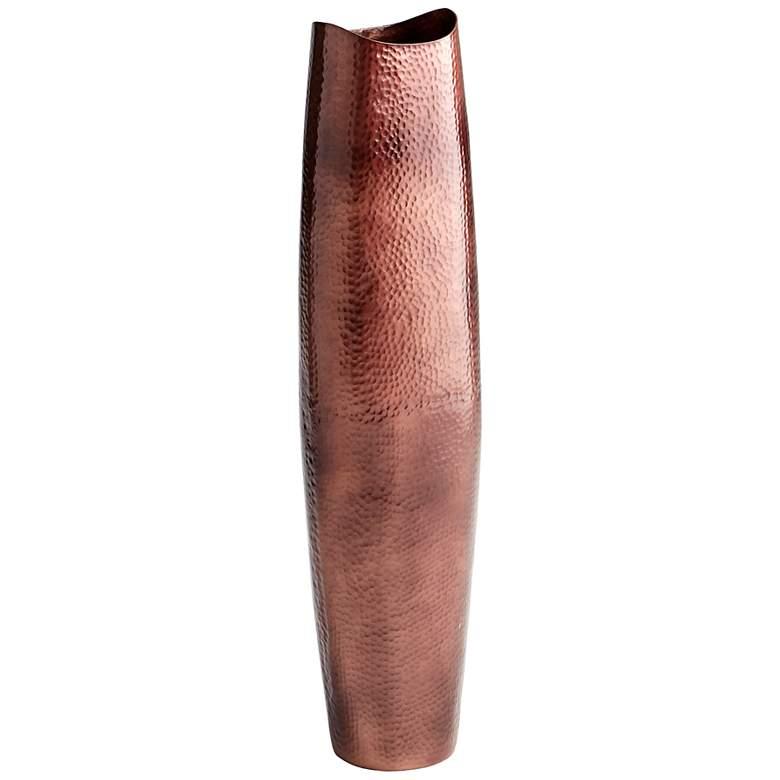 "Tuscany Large 39"" High Antique Copper Floor Vase"