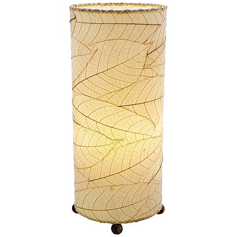 Eangee Cylinder Natural Cocoa Leaves Uplight Table Lamp