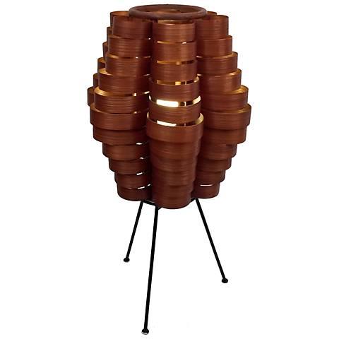 Eangee Petal Slat Bamboo Table Lamp