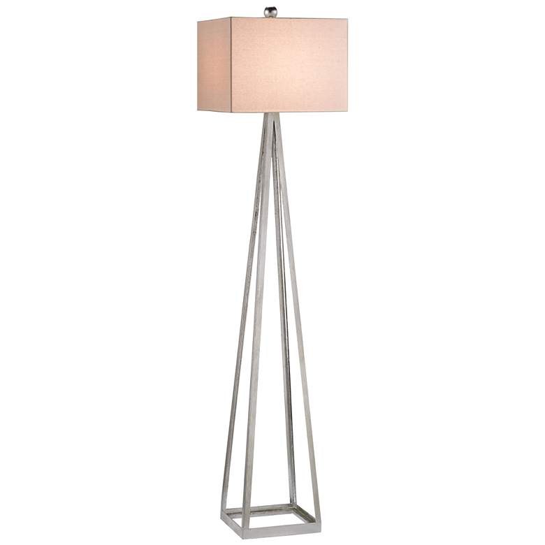 Currey and Company Bel Mondo Silver Leaf Floor Lamp
