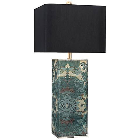 John Richard Printed Fabric Acrylic Column Table Lamp