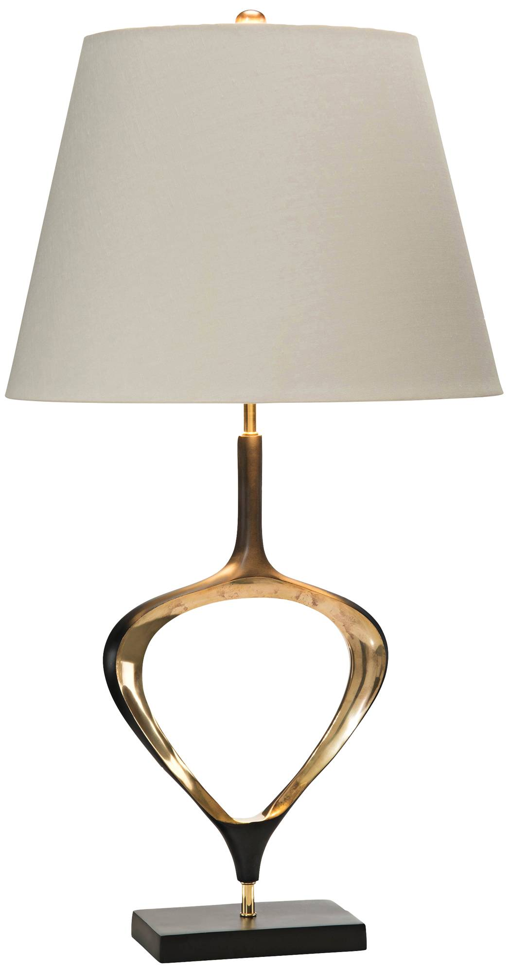 John richard aged antique brass open teardrop table lamp