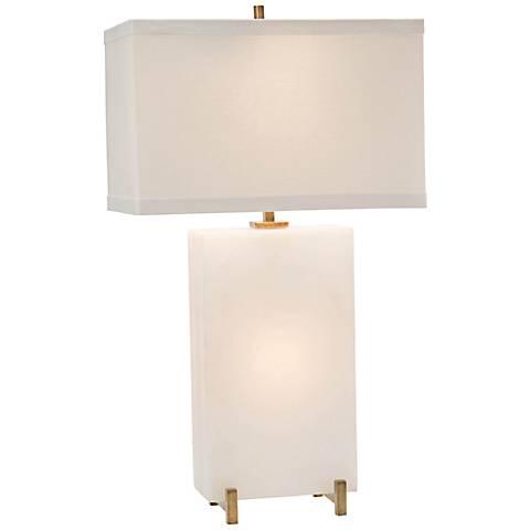 John Richard Tall Alabaster Block Nightlight Table Lamp