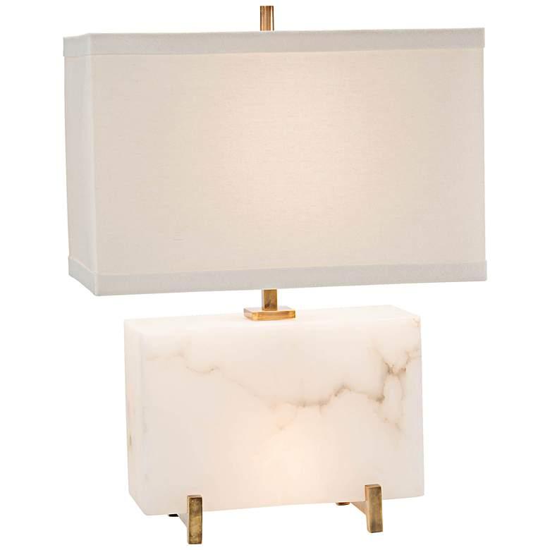 John Richard Wide Alabaster Block Nightlight Table Lamp