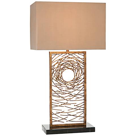 John Richard Vortex Antique Gold Iron Table Lamp