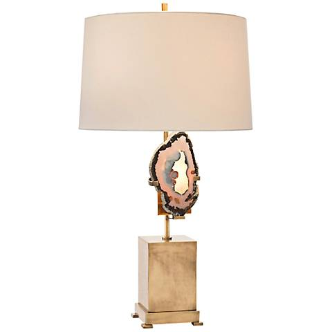 John Richard Brass Geode Table Lamp