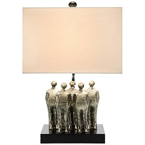 John Richard Watching Silver Statue Steel Table Lamp