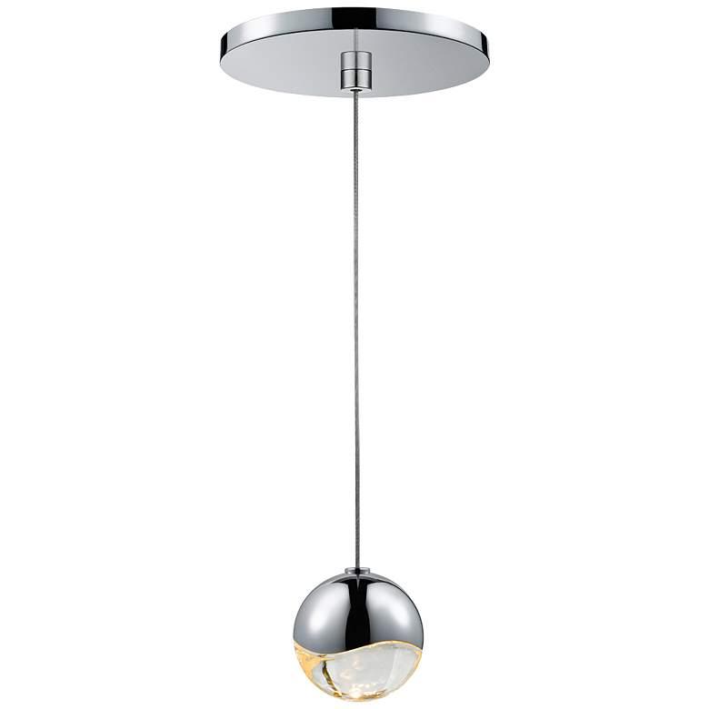 "Sonneman Grapes 2 1/2"" Wide LED Chrome Globe Pendant"