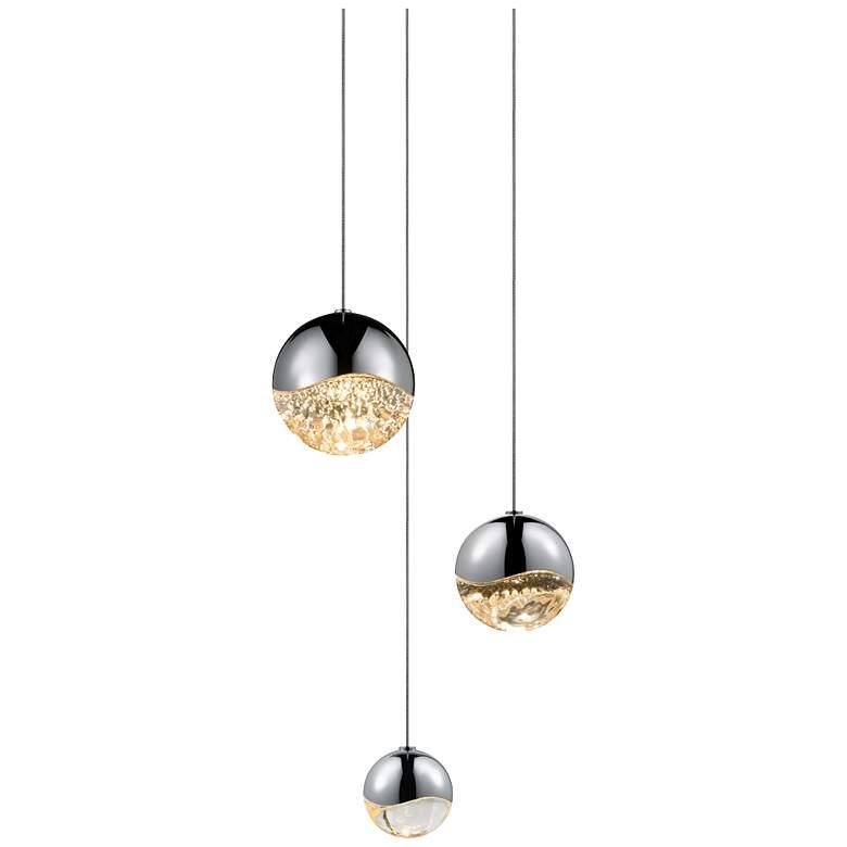 Grapes 3-Light LED Pendant in Chrome by Sonneman