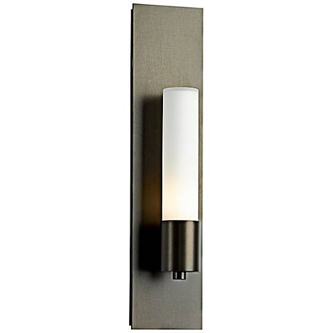 "Hubbardton Forge Pillar 18 1/4"" High Bronze Wall Sconce"