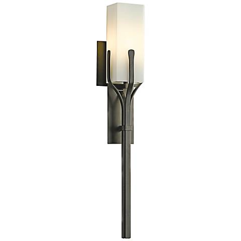 "Mediki 24 1/2"" High Dark Smoke Wall Sconce"