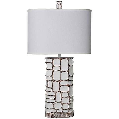 Richwood McAllen Ivory Column Table Lamp