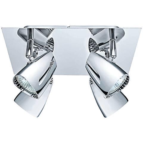 Eglo Corbera Industrial 4-Head Square Chrome Track Light