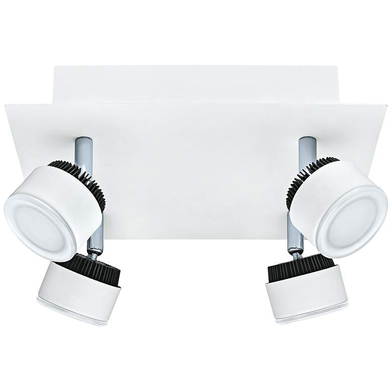 Eglo Armento White 4-Head LED Square Track Light