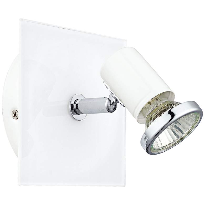 Eglo Tamara White and Chrome Square Wall Track Light