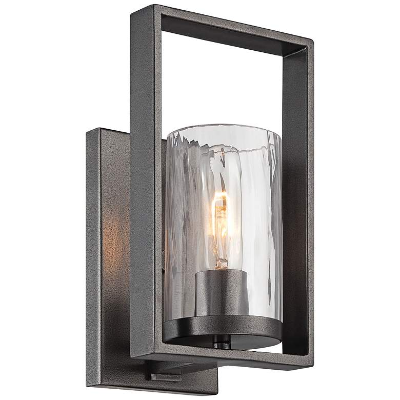 """Elements 10 3/4"""" High Charcoal Wall Sconce"""