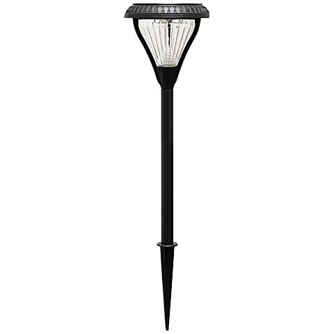 "Premier Black 23 1/2"" High Solar LED Garden Light"