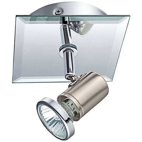 Eglo Tamara Chrome and Matte Nickel Square Wall Track Light