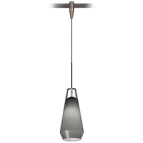 """Lustra 3 3/4"""" Wide Smoke Bronze Monorail Mini Pendant"""