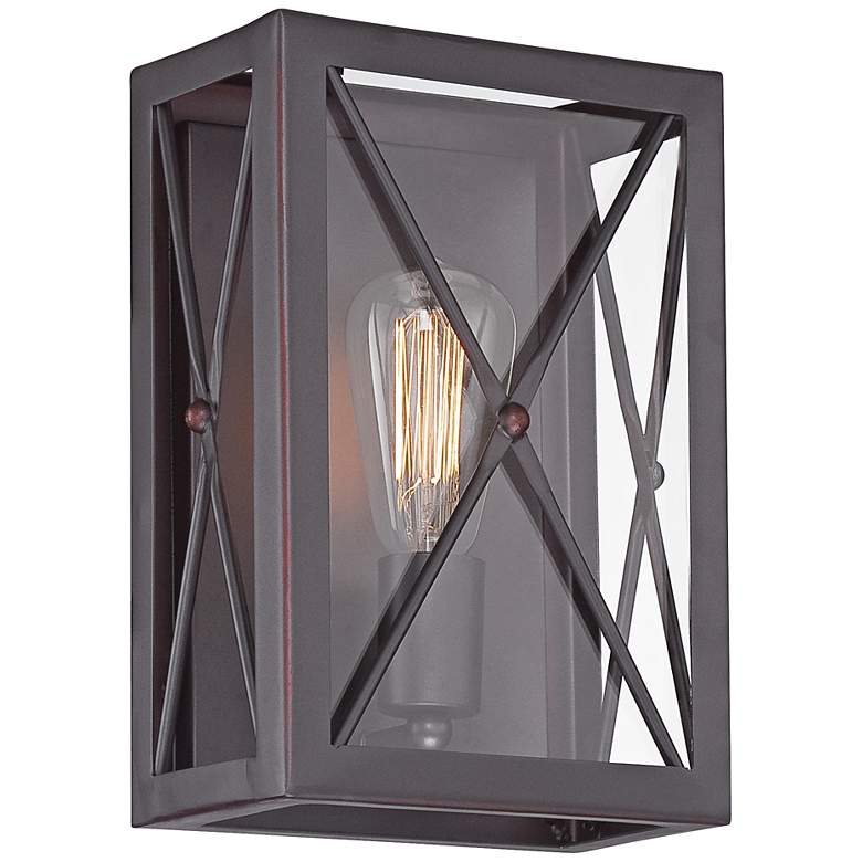 "High Line 11 1/2"" High Satin Bronze Wall"