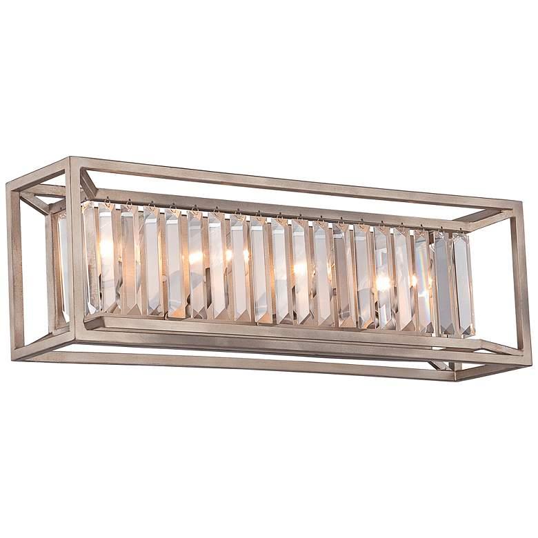 """Linares 23 3/4"""" Wide Aged Platinum Bath Light"""