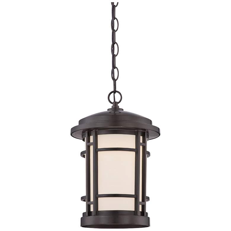 "Barrister 14 3/4"" High Bronze LED Outdoor Hanging"