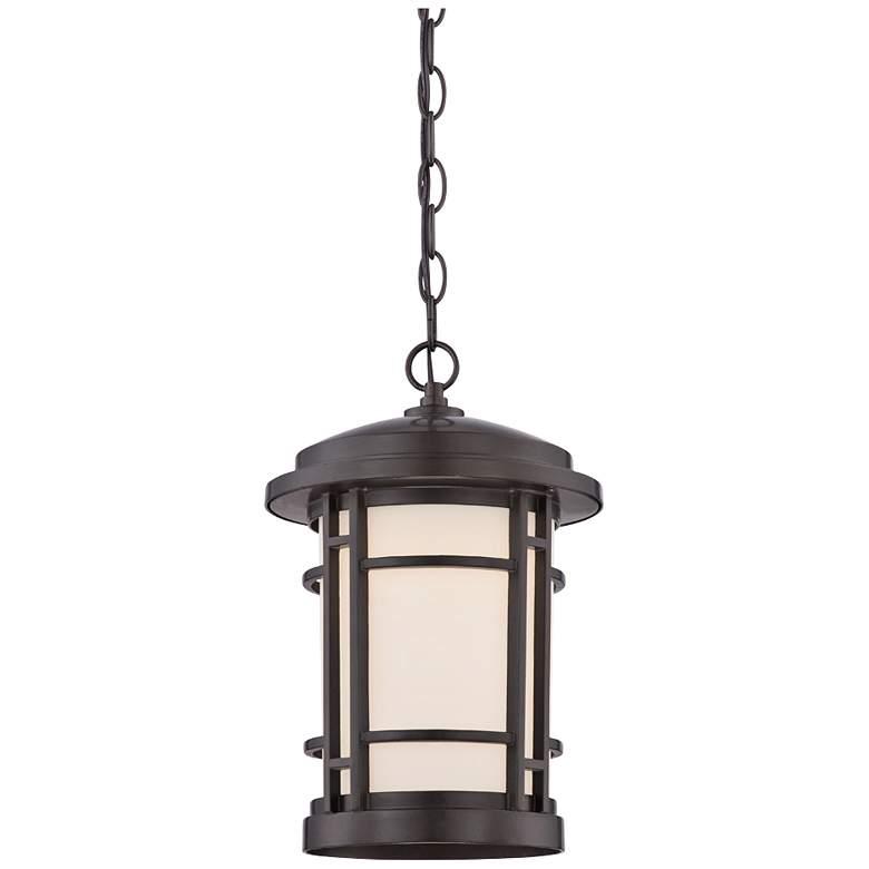 "Barrister 14 3/4"" High Bronze LED Outdoor Hanging Lantern"