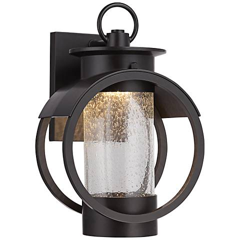 "Arbor 12"" High Burnished Bronze LED Outdoor Wall Sconce"