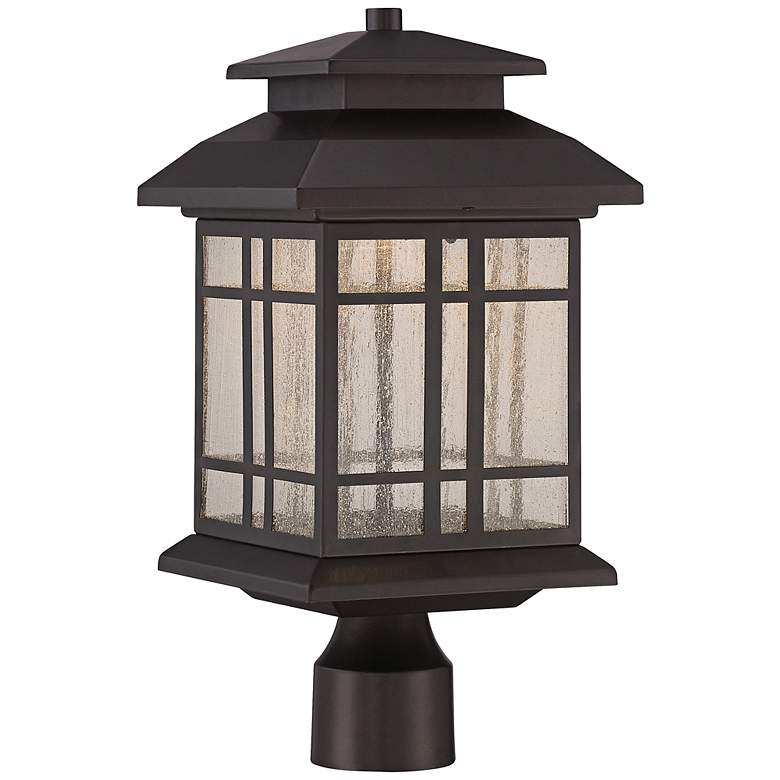 """Piedmont 16 1/2""""H Oil Rubbed Bronze LED Outdoor Post Light"""