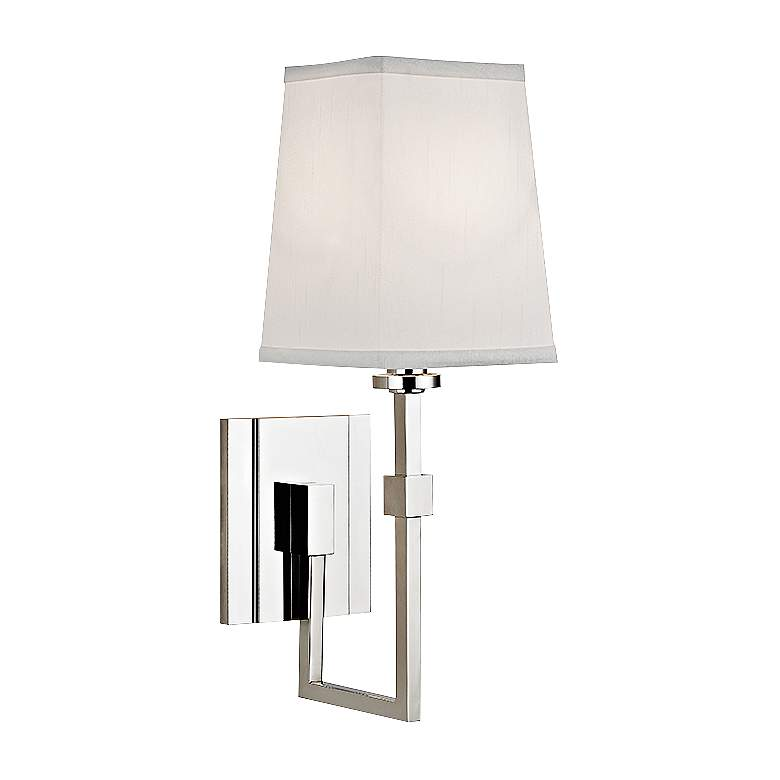 "Hudson Valley Fletcher 15 1/4""H Polished Nickel Wall Sconce"