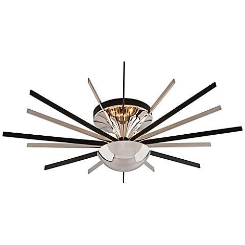 "Atomic 36""W LED 16-Light Polished Nickel Ceiling Light"