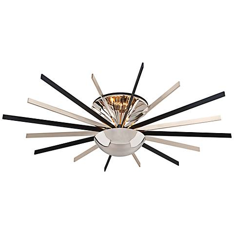 "Atomic 48""W LED 16-Light Polished Nickel Ceiling Light"