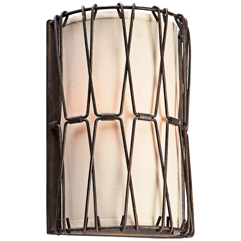 "Buxton 13"" High Chain Link Vintage Bronze Wall Sconce"