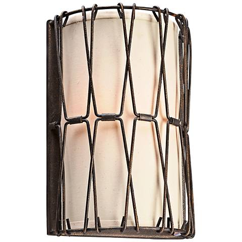 """Buxton 13"""" High Chain Link Vintage Bronze Wall Sconce"""